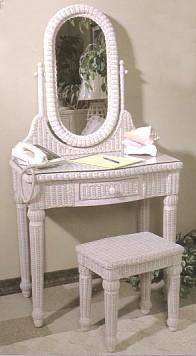 Wicker Dressing Table Wicker Vanity Set
