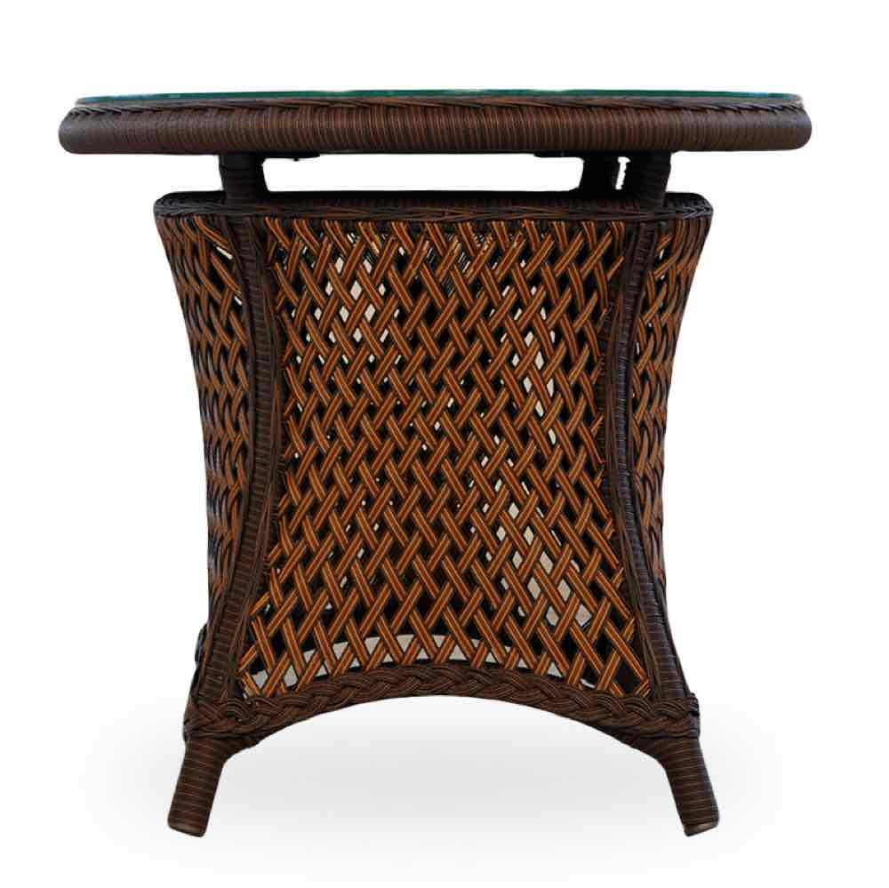lloyd flanders grand traverse outdoor round wicker end table
