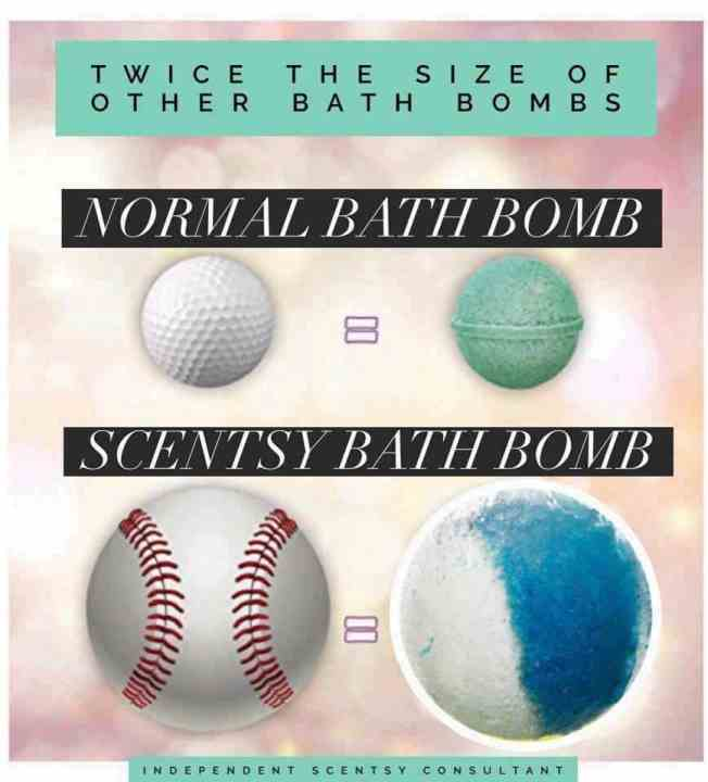 What Size Are Scentsy Bath Bombs - They Are The Size Of A Baseball
