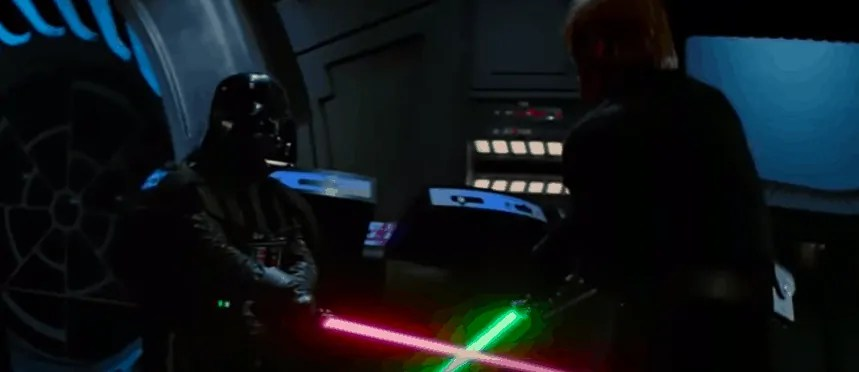 Darth Vader and Luke Fight - Empire Strikes Back