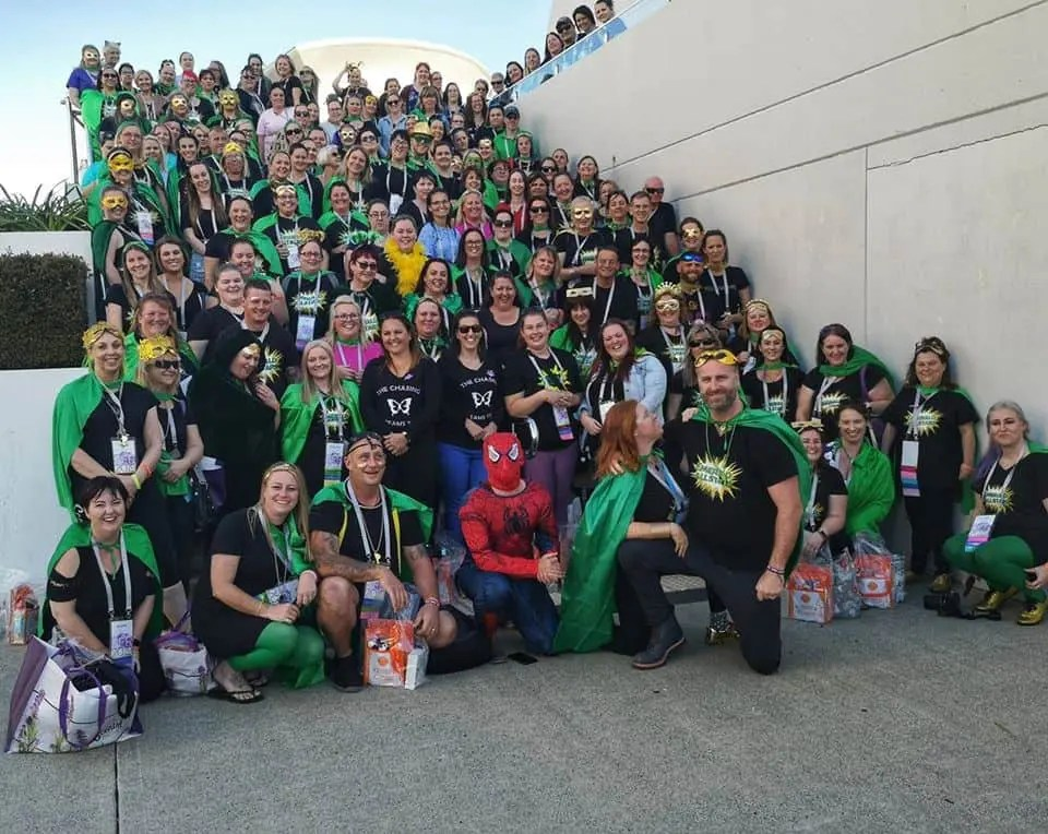 Scott and Alexandras Global Sales Team The Emerald All Stars - These are just a few of their 1000 plus Scentsy Australia & New Zealand Team