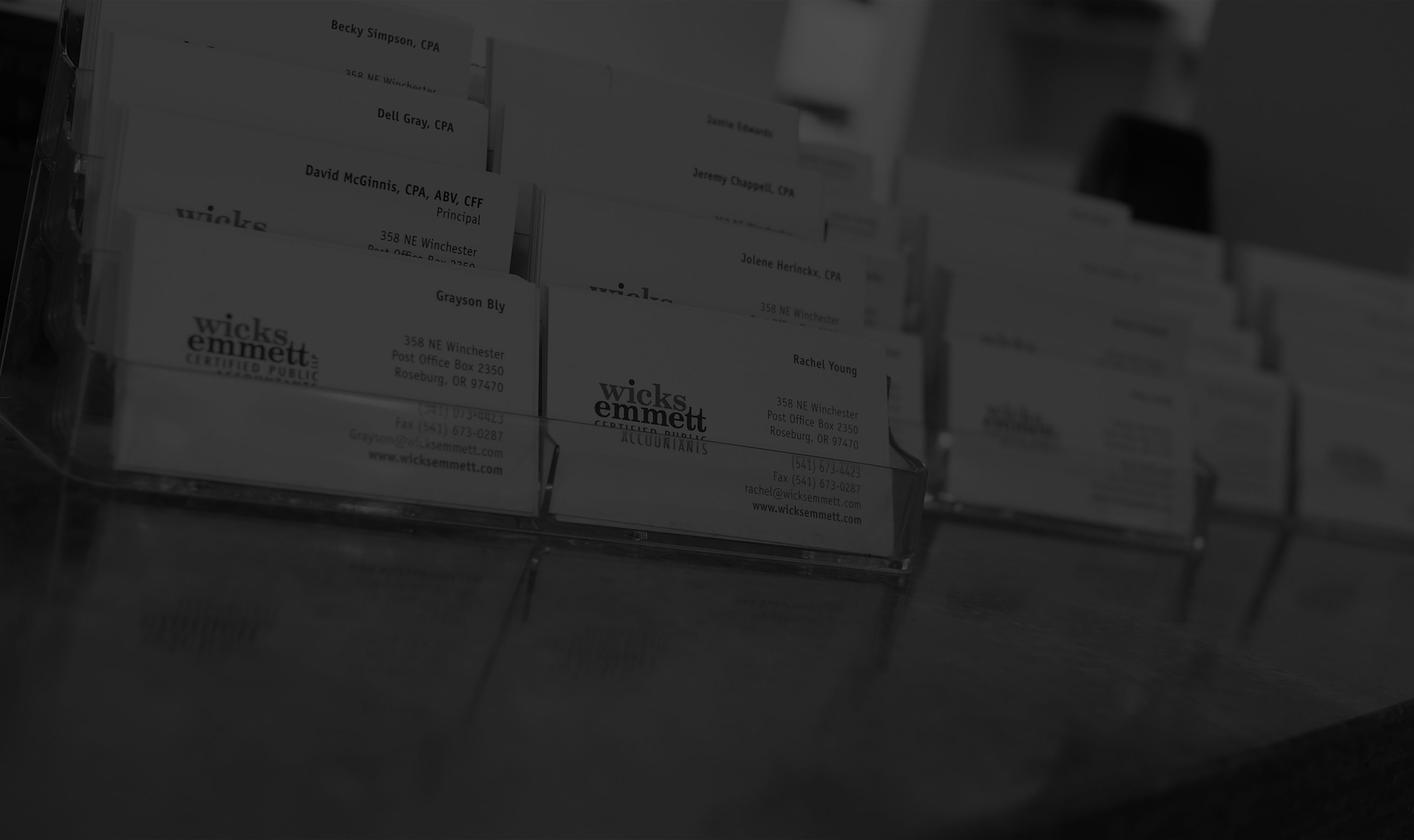 wicks-emmett-business-cards-bkg-dark | Wicks Emmett CPA Firm