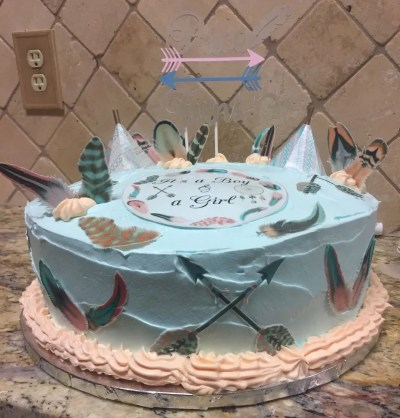 Wickstead's-Customer-Photo-of-our-Edible-Cotton-Candy-Feathers,-arrows,-100%-Edible-Cupcake-Wrappers-&-Teepee's