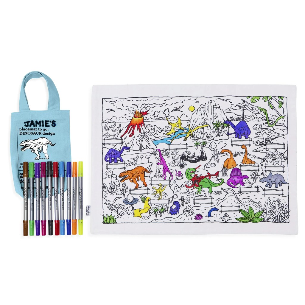 DINPTG colour & learn dinosaur placemat to go – cutout (square)