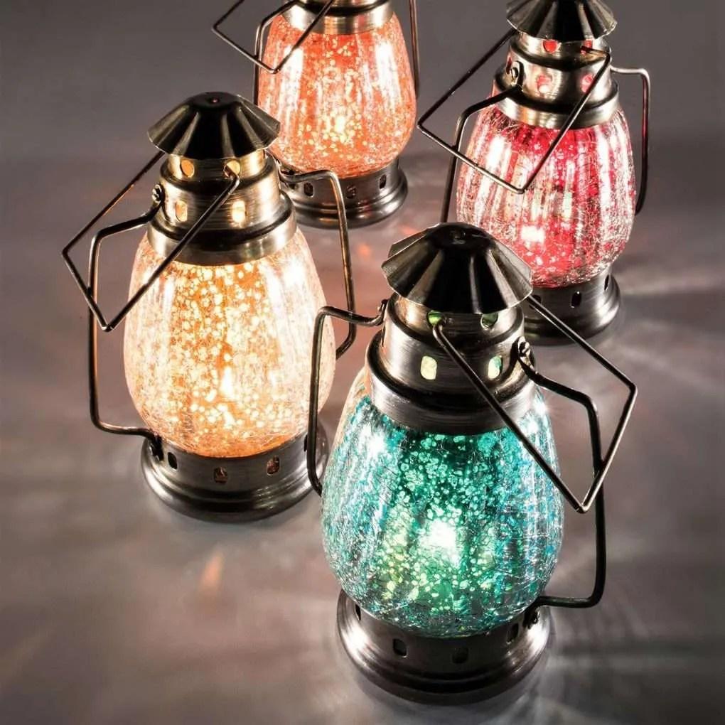 LT91 Small silver crackle lantern ( sale) (2)