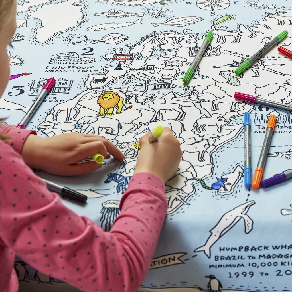 MAPTS world map tablecloth lifestyle 5