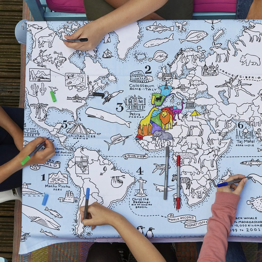 MAPTS world map tablecloth lifestyle 7