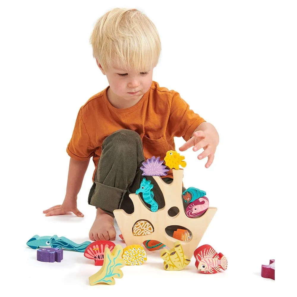 TL8410 stacking coral reef with boy
