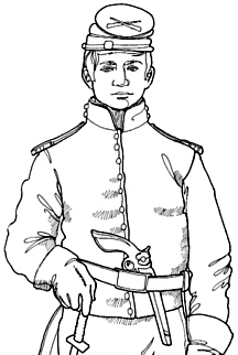 uniforms of the civil war colouring pages