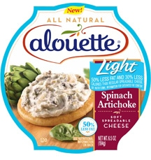 Alouette Light Spinach & Artichoke Spreadable Cheese