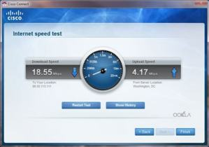 Linksys E4200 Speed Test