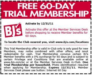 BJ's Trial Membership