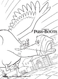 Puss in Boots Coloring Page