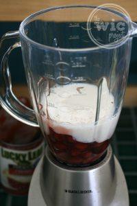 Lucky Leaf Frozen Pie Pops Ingredients in Blender