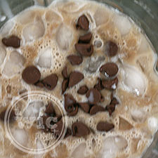 Grasshopper Iced Mocha Ingredients in Blender