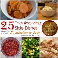 25 Quick and Easy Thanksgiving Side Dishes You Can Make in 10 Minutes or Less