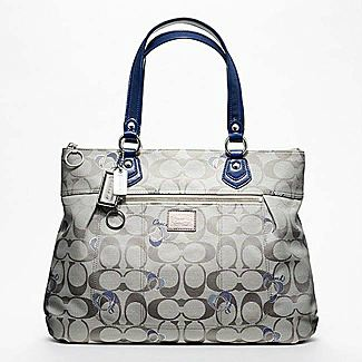 Coach Poppy Signature Glam Tote