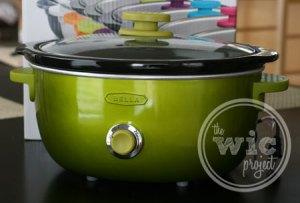 Green BELLA Dots Slow Cooker
