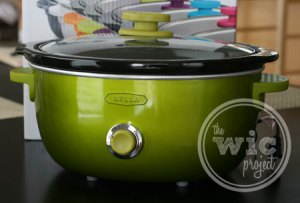 Green BELLA Dots Slow Cooker