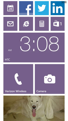 My Windows Phone 8X Start Screen