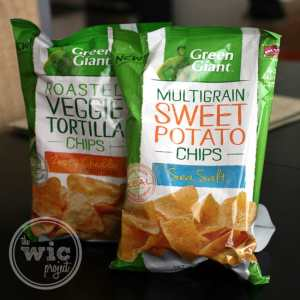 when you buy ONE PACKAGE any flavor 5 OZ. OR LARGER Green Giant Veggie Snack Chips