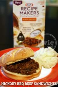Kraft Recipe Makers Hickory BBQ Beef Sandwich