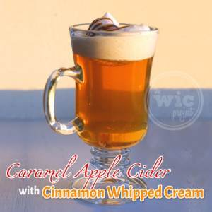 Caramel Apple Spice with Cinnamon Whipped Cream