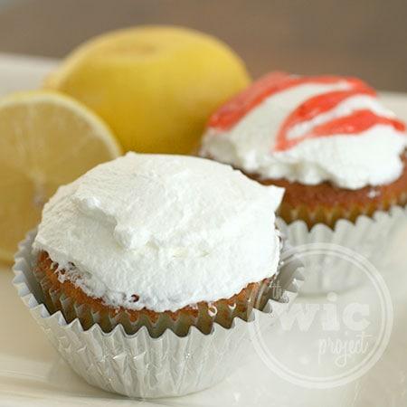 Lemon Strawberry Filled Cupcakes