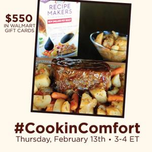 #CookinComfort Twitter Party - 2-13