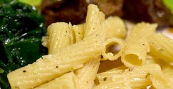 Easy Weeknight Meal Pasta Side – Roasted Garlic and Parmesan Pasta #PastaFits #MC #Sponsored
