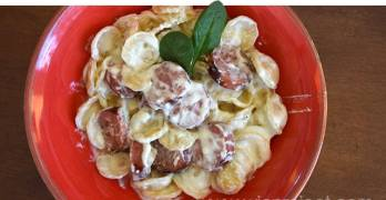 Chicken Apple Alfredo Orecchiette Recipe for the Holidays #MC #PastaFits #Sponsored
