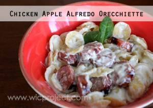 Chicken Apple Alfredo Orecchiette