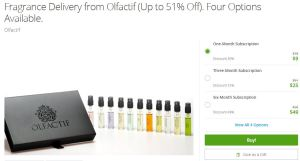 Groupon Beauty Gift Olfactif Subscription