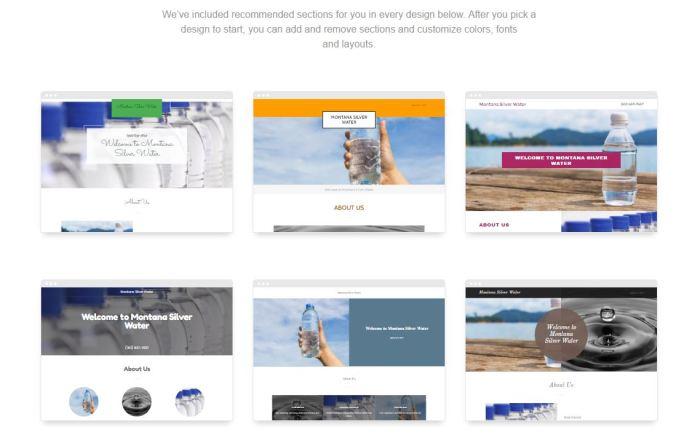 GoDaddy GoCentral Website Builder - Create a Website in Minutes - Designs