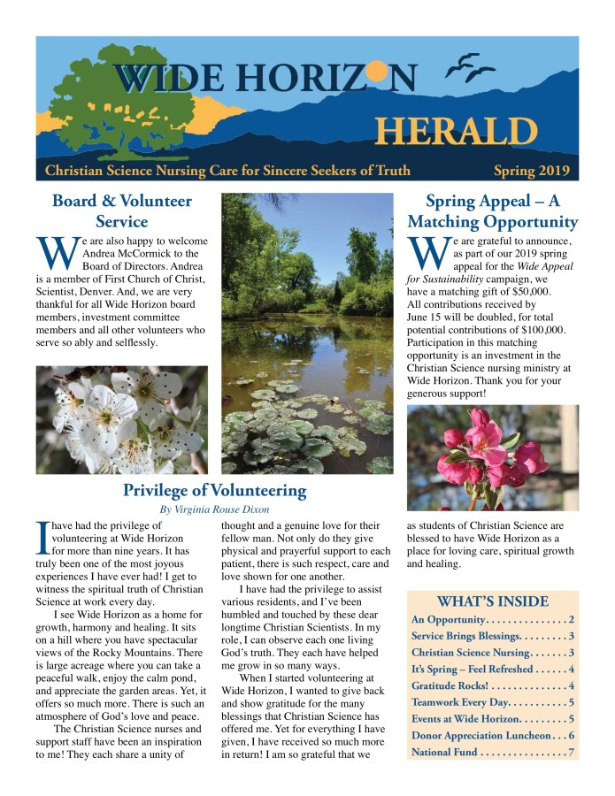 2019 Spring Wide Horizon Herald News