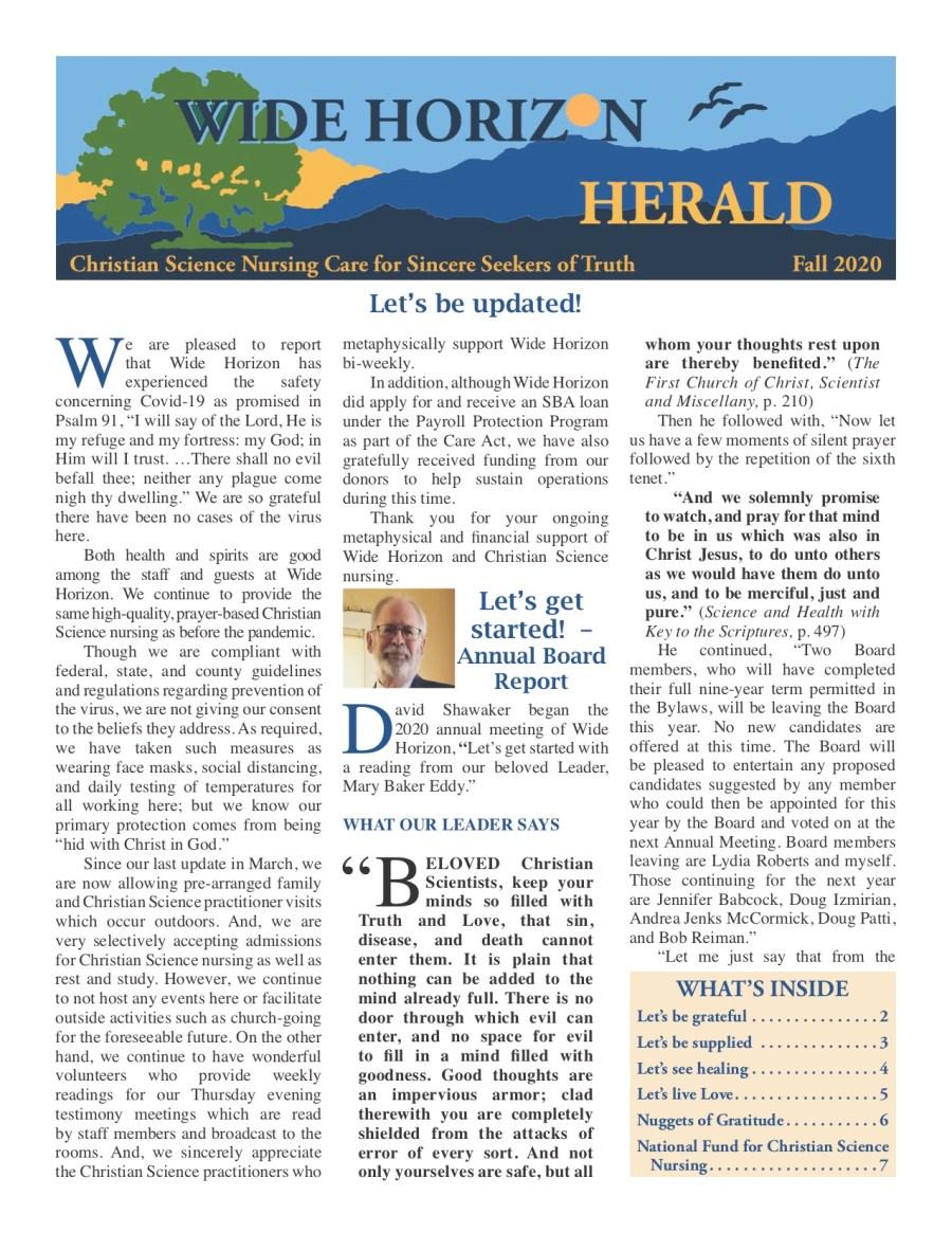 2020 Fall Wide Horizon Herald News