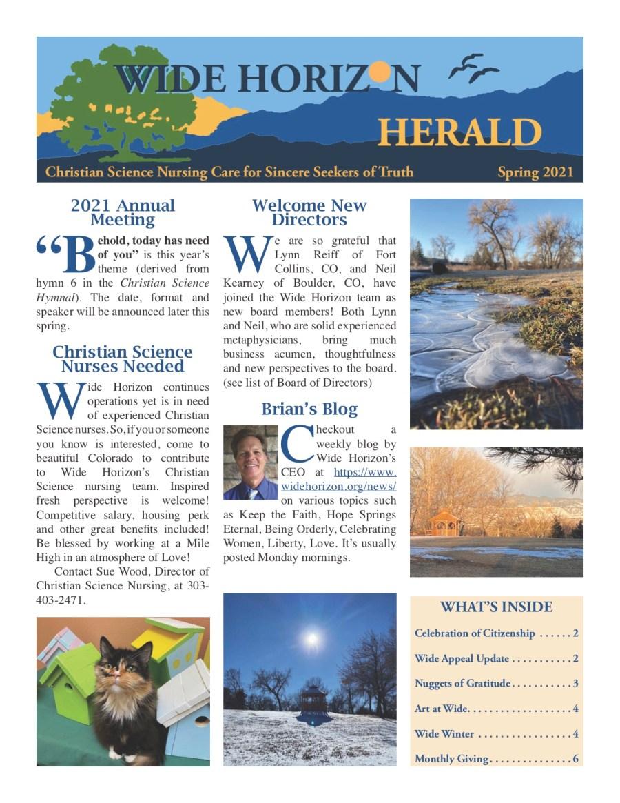 Spring 2021 - Wide Horizon Herald