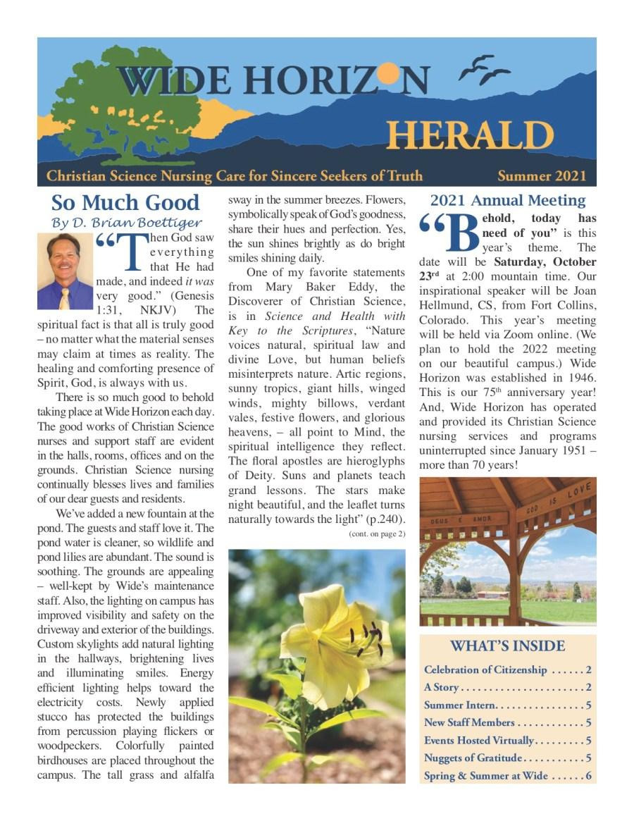 Wide Horizon Herald Summer 2021
