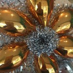 Sale Gold And Silver Star Tree Topper Mercury Glass Tinsel