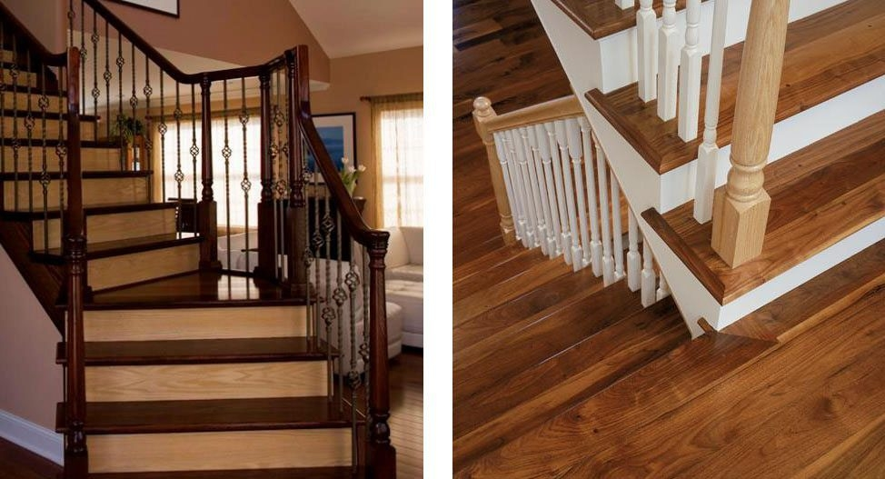 Design Ideas For Stairs To Match Your Custom Hardwood Floors | Tile To Wood Stair Transition | Stair Nose | Flooring | Porcelain | Builder Grade | Threshold