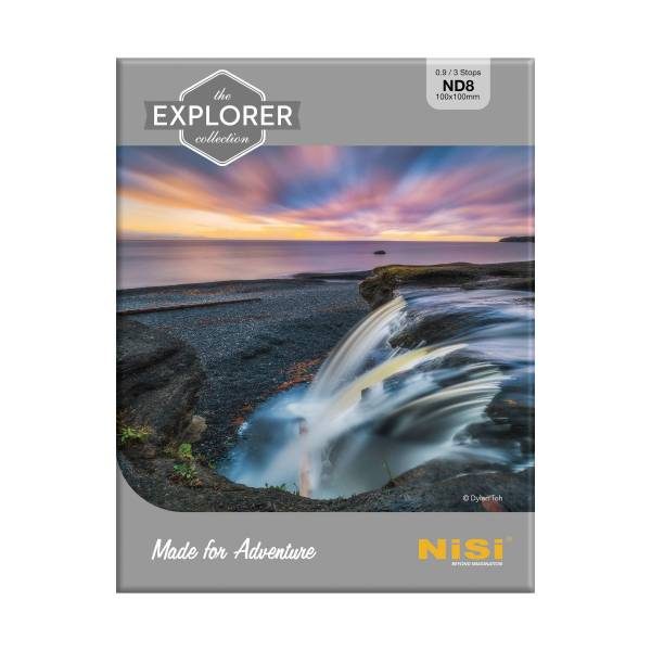 NiSi Explorer Collection 100x100mm Nano IR Neutral Density filter – ND8 (0.9) – 3 Stop