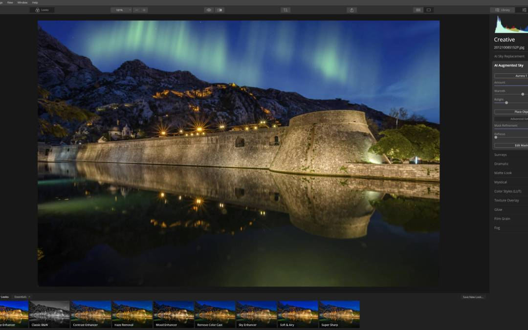 Luminar 4 – How to use AI Augmented Sky Tool