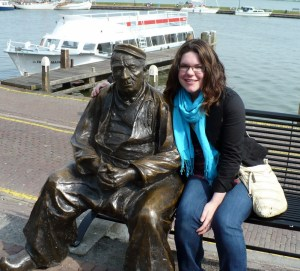 Mizz J and a friend, Volendam.