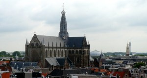 View of Haarlem and Grote Kerk from Vroom & Dreesman (Dutch department store chain)