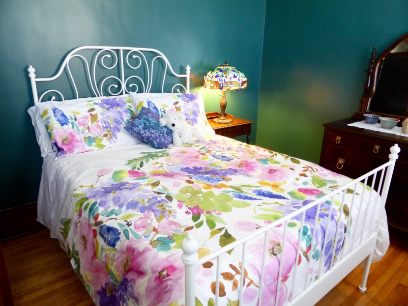 True fact: the bedding cost more than the bed. But so pretty and worth every penny.