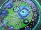 Dose - rund - blaugrünschwarz