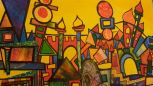 Stadt leicht abstrakt Collage