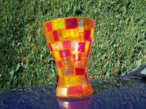 Vase rotgold
