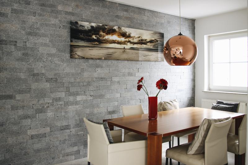 steinwand wohnzimmer mnchen, wohnzimmer-steinwand - wieczorek fliesen, Design ideen