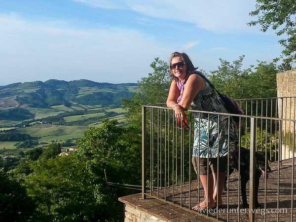 Blick von Radicondoli in die Toskana